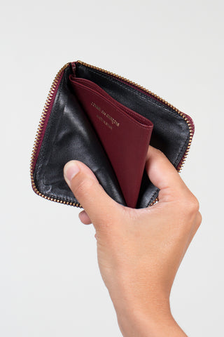 Textured Corner Zip Wallet