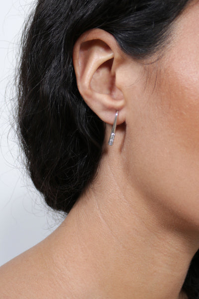 Berit Icy Grey Diamond Earrings