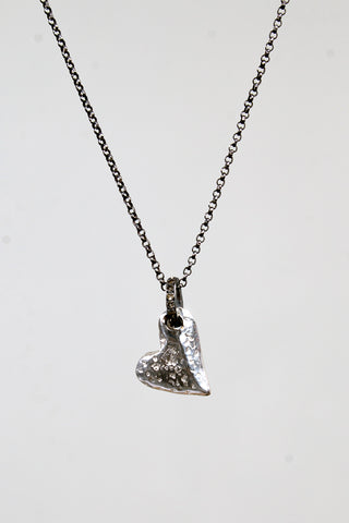 Heart Cognac Diamond Necklace