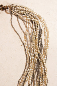 Chain and Blown Glass Bead Necklace