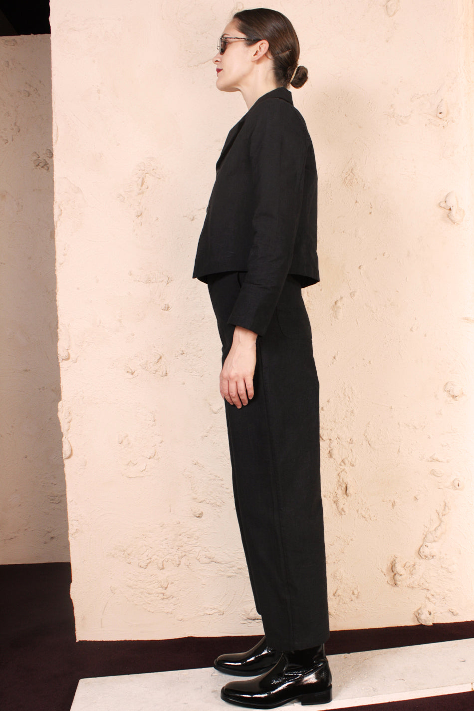 High Wide Pant Black