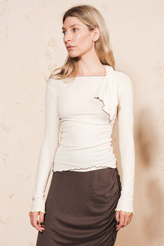 Pava Long Sleeve Cotton Rib