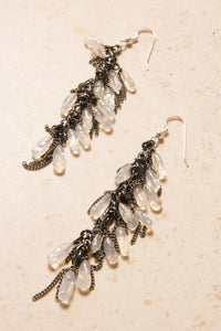 Clear Glass Bead Earrings