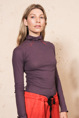 Oba Turtle Neck Cotton Rib