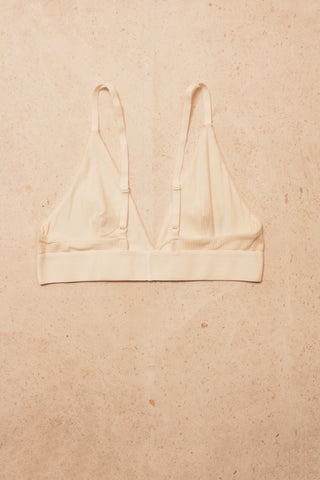 Triangle Bra Cotton Rib