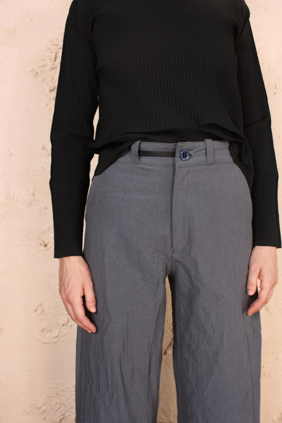 High Wide Pant Grey