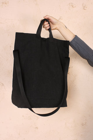 Multi Handle Tote Black