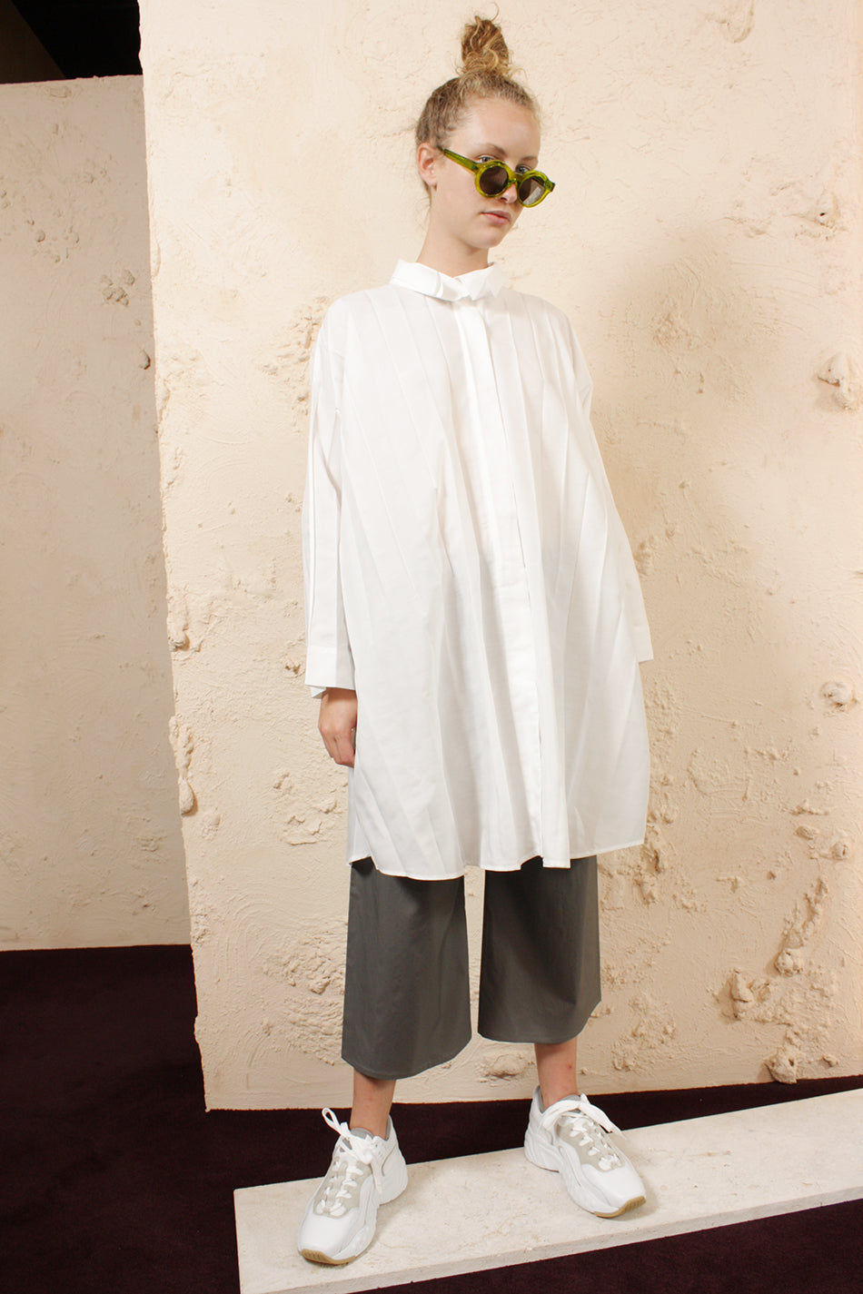 Wide Pleated Shirt