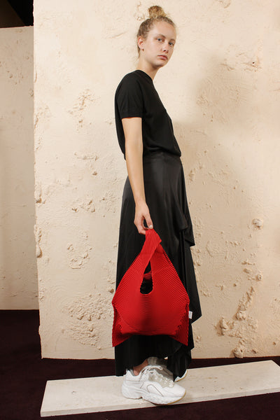 Soft Pleat Carry Bag Red