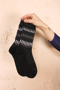 Colourful Stripe Socks Grey