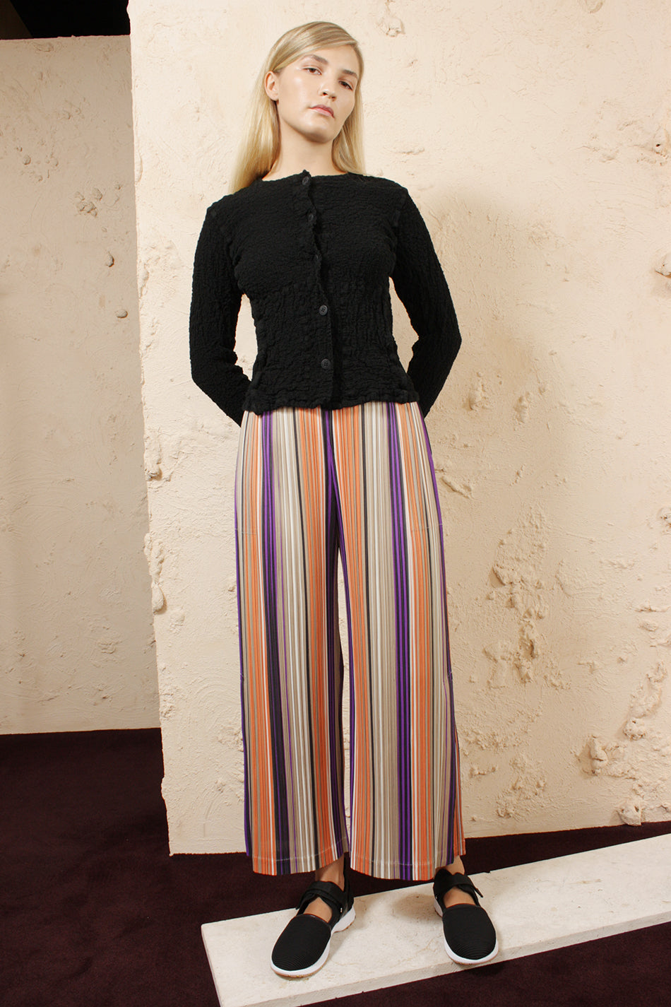 Striped Wide Pants