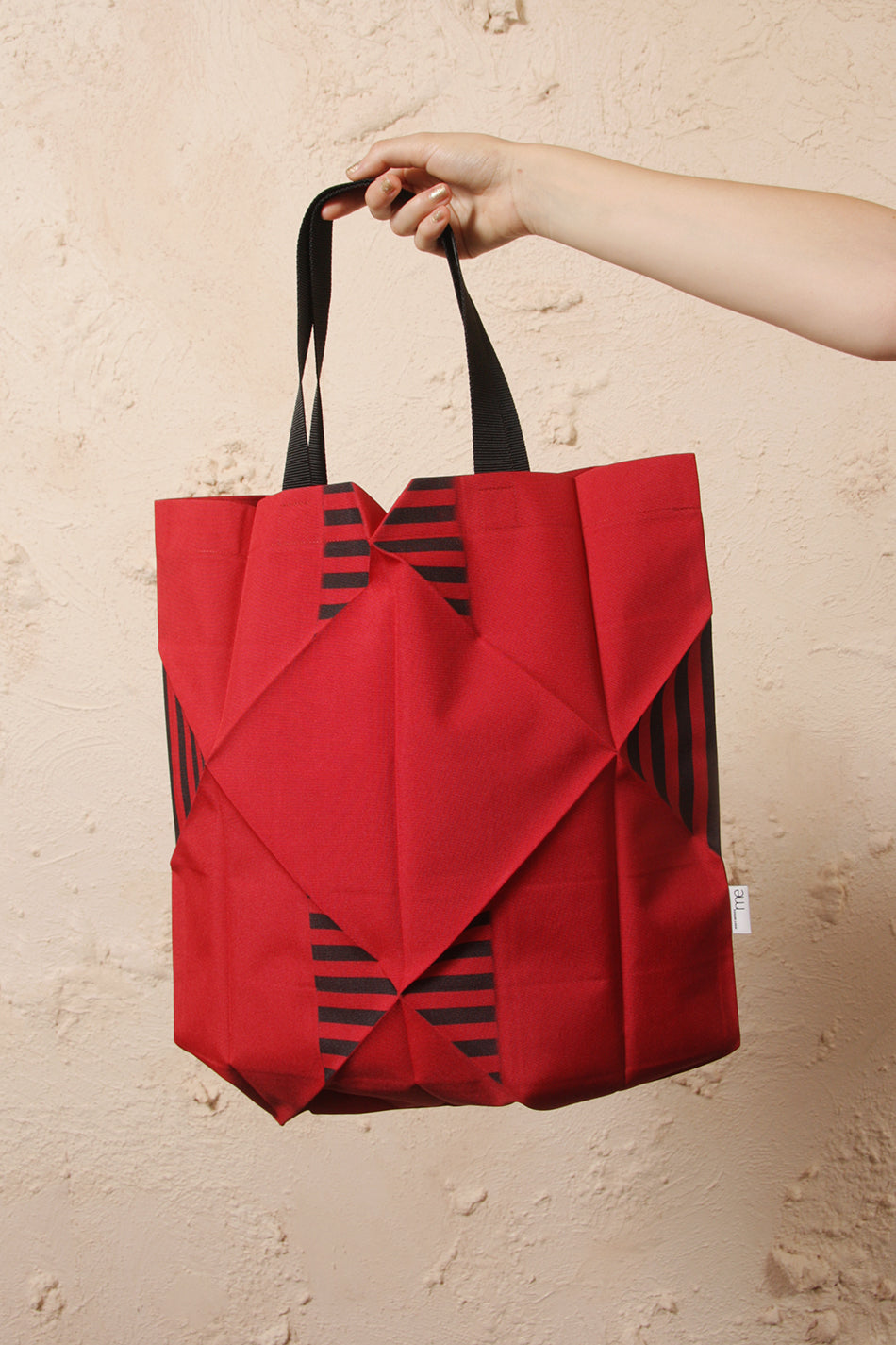Origami Stripe Tote Bag