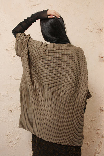 Block Pleat Blouse