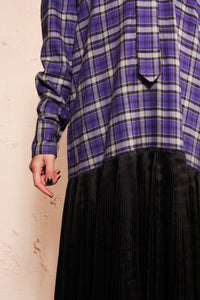 Pleated Tartan Dress