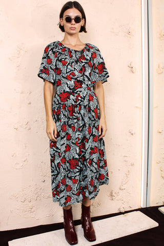 Damba Red Iris Dress