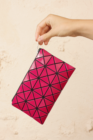 Prism Flat Pouch Burgundy