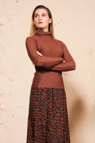APOC Turtleneck Top Rust