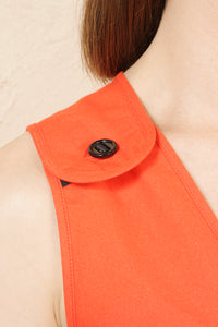 Dungaree Dress Orange