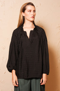 Toula Black Blouse