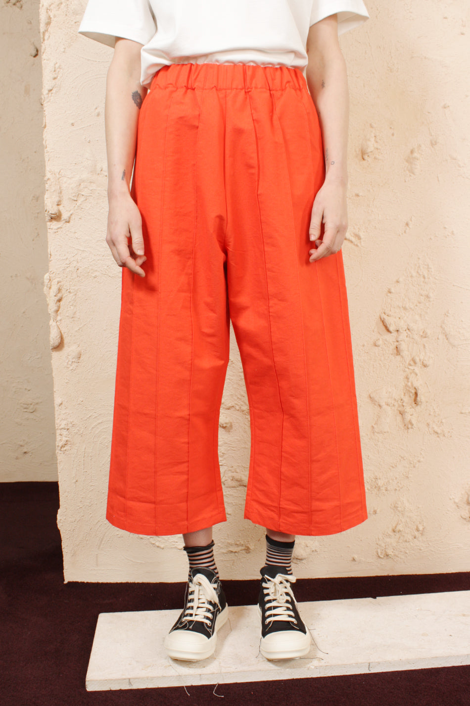 Tuck Pants Orange
