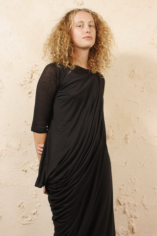 Mid Sleeve Draped Dress