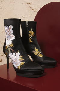 Satinel Embroidered Shoes
