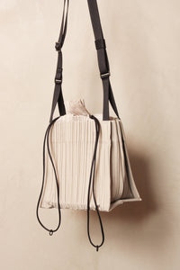 Square Pleats Bag Grey