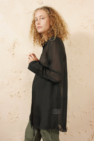 Sheer Oversized Shirt