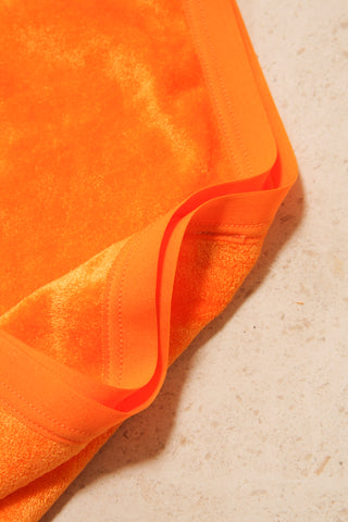 Highwaist Bell Pants Orange Velour