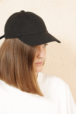 Six Panel Cap Black Bio