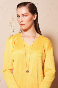 V Neck Dress Yellow