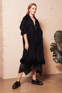 Kiku Flocky Cauliflower Coat Dress