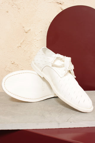 White Leather Brogue