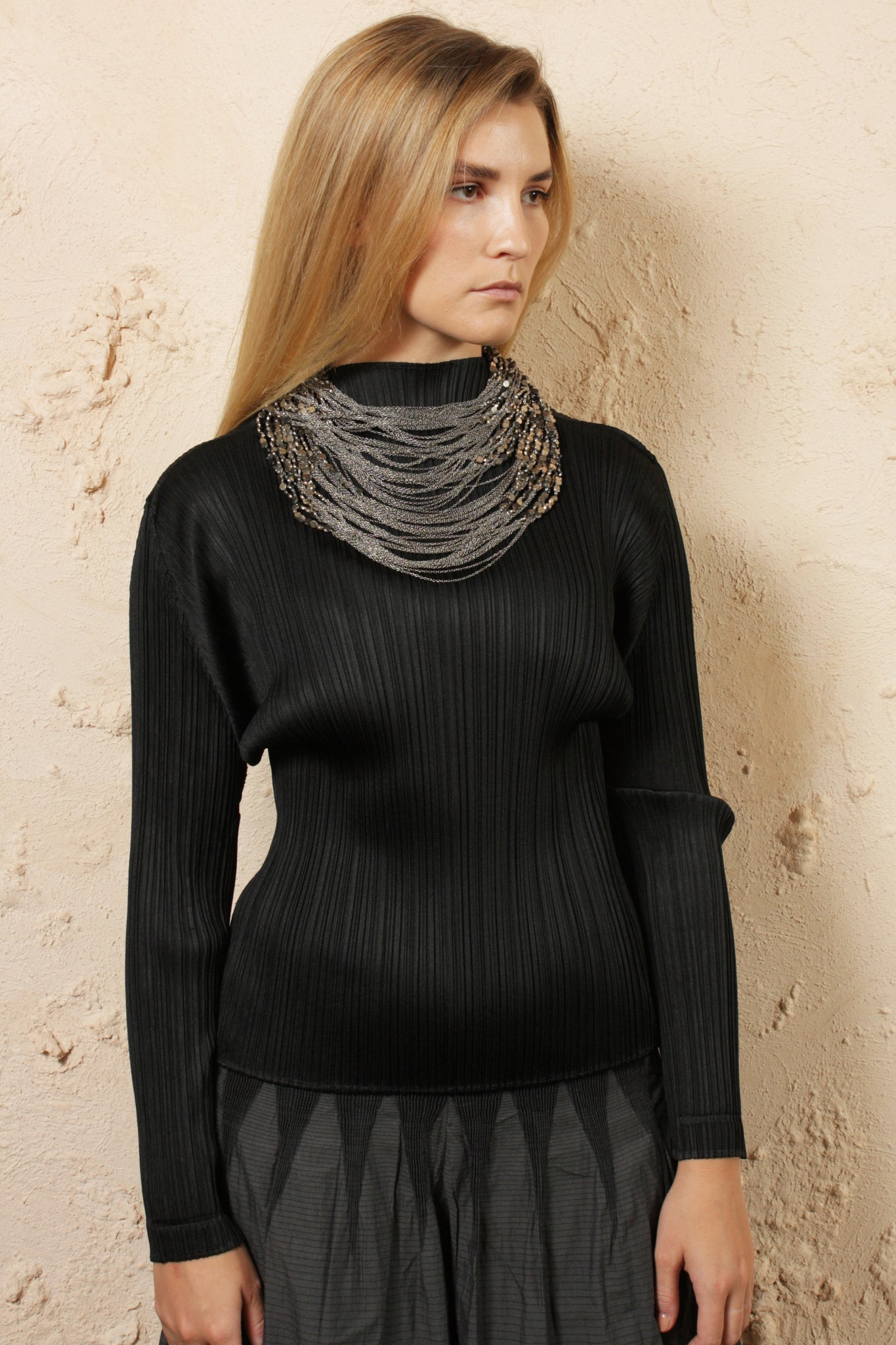 Turtle Neck Top Black