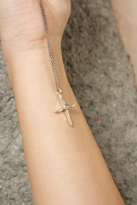 Grey Diamond Cross Necklace