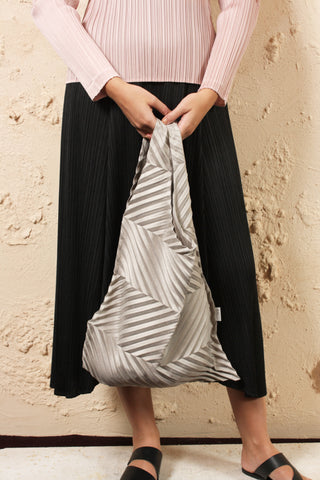 Suede Look Pleated Bag
