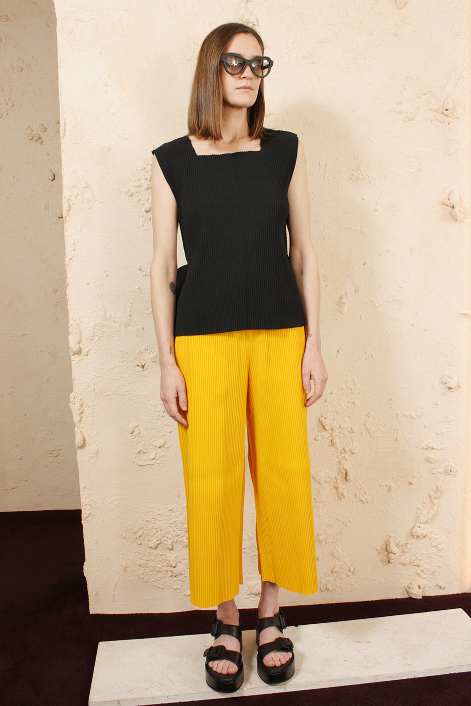 Apoc Wide Trousers Yellow