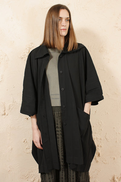 Wide Pleat Poncho