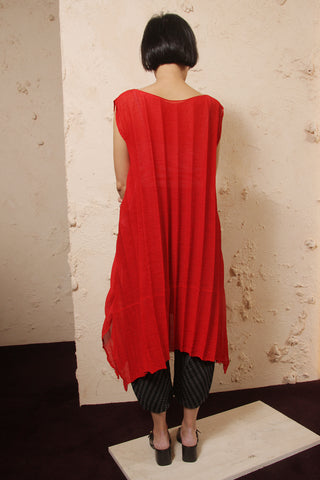 Pleated Crepe Tunic
