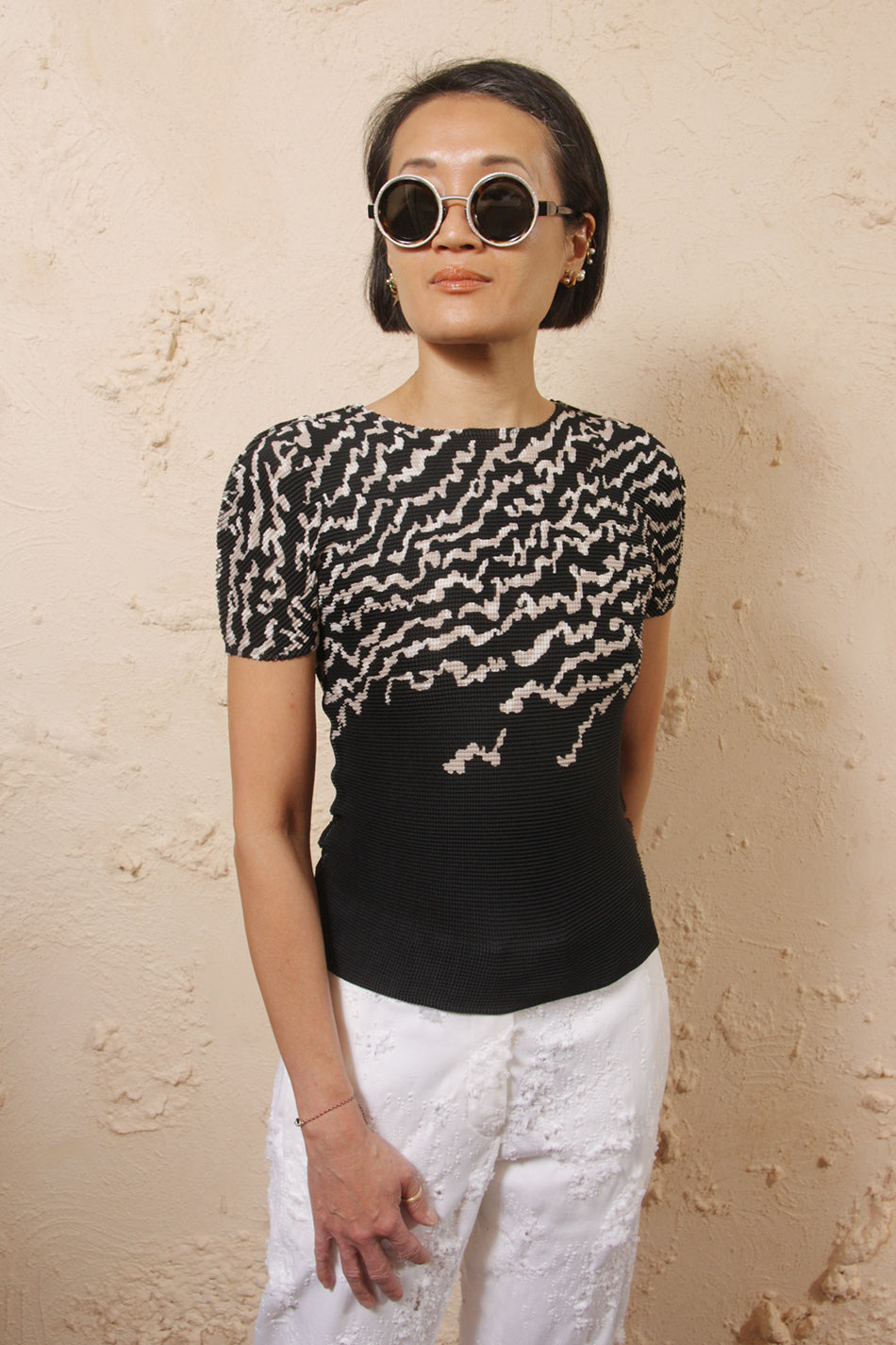 Squiggle Print Top