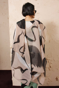 Cream Abstract Stole