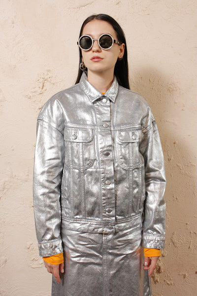 Lamp Silver Denim Jacket