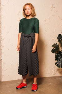 Soft Micropleated Top Green