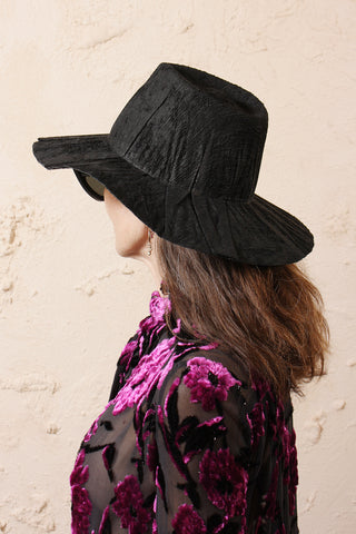 Nana Black Velvet Hat