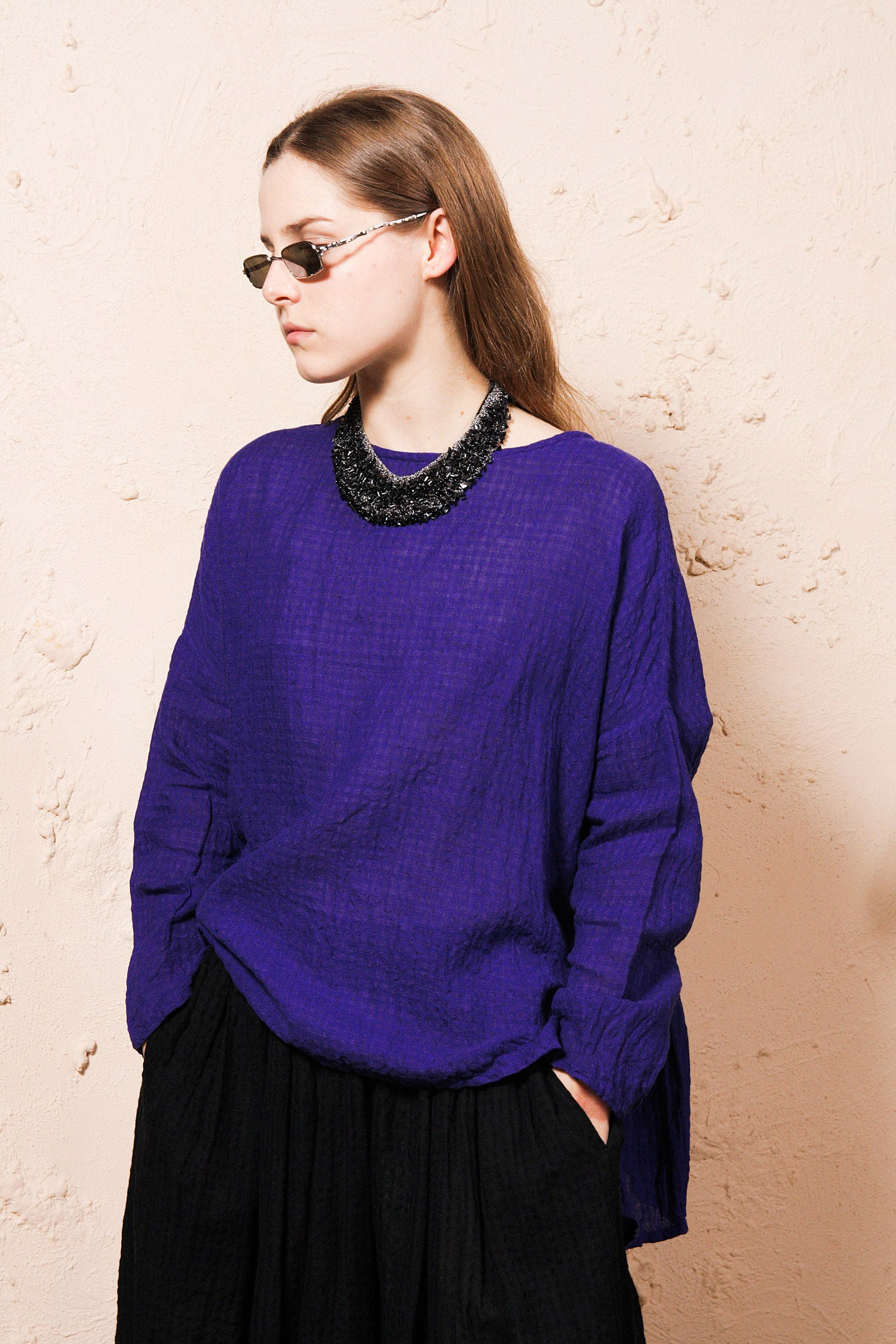 Purple Boil Washer Pullover