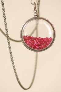 Ann Demeulemeester Simple Swarovski Ruby Necklace
