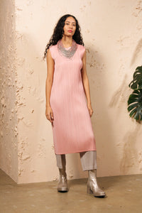 Soft Pink Sleeveless Dress