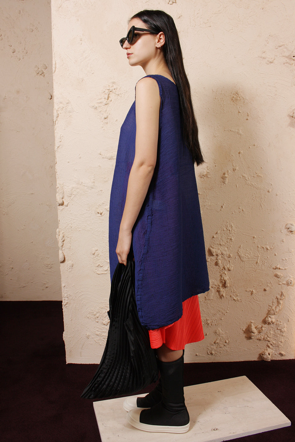 Blue Crepe Tunic