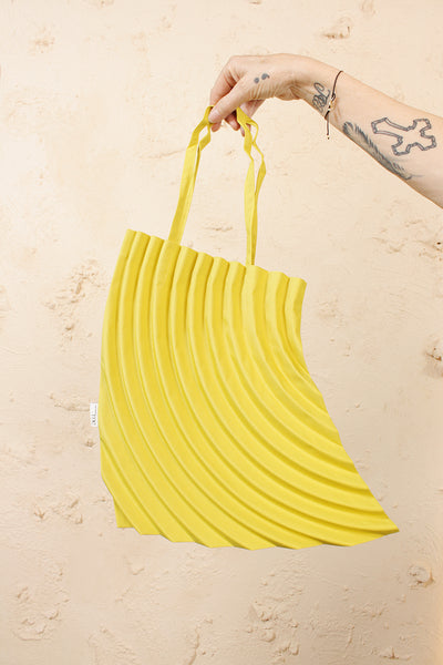 Crescent Pleats Bag Yellow