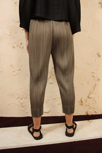 Tapered Trousers Taupe